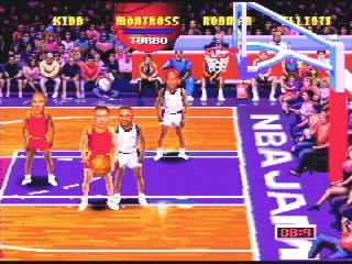 NBA Jam features a joke Sega 32X code.